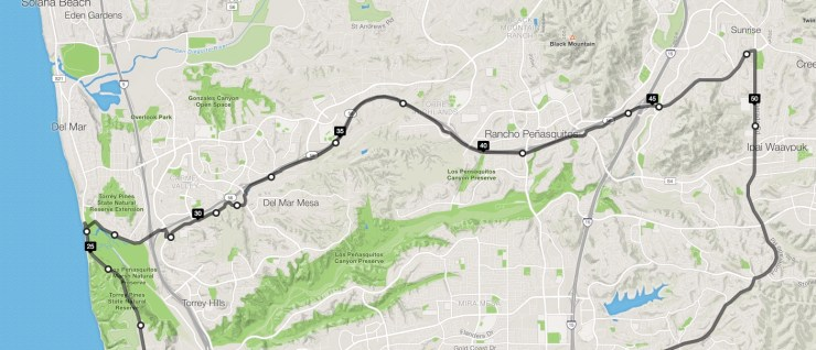 Poway Cycle Route Part 1