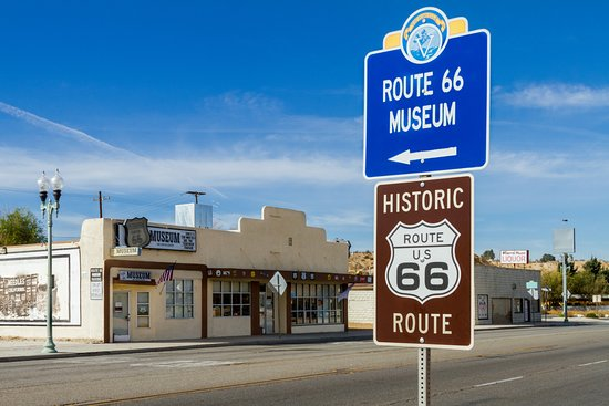 Route 66 museum on the Los Angeles to Las Vegas Drive