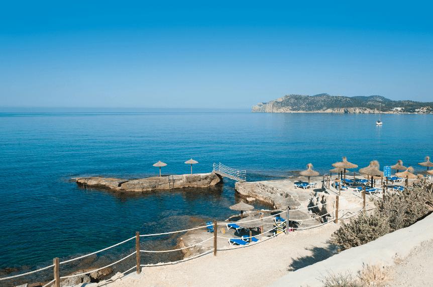Playa Cala Blanca - Mallorca. Cala Blanca beach - Majorca. Costa de la Calma , Santa Ponça