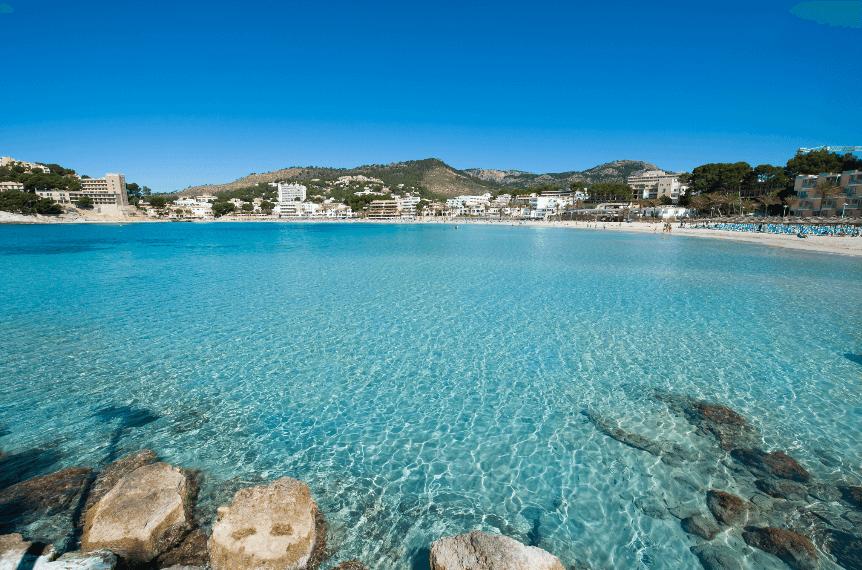 Palmira beach, playa de palmira, Peguera destaca por playas