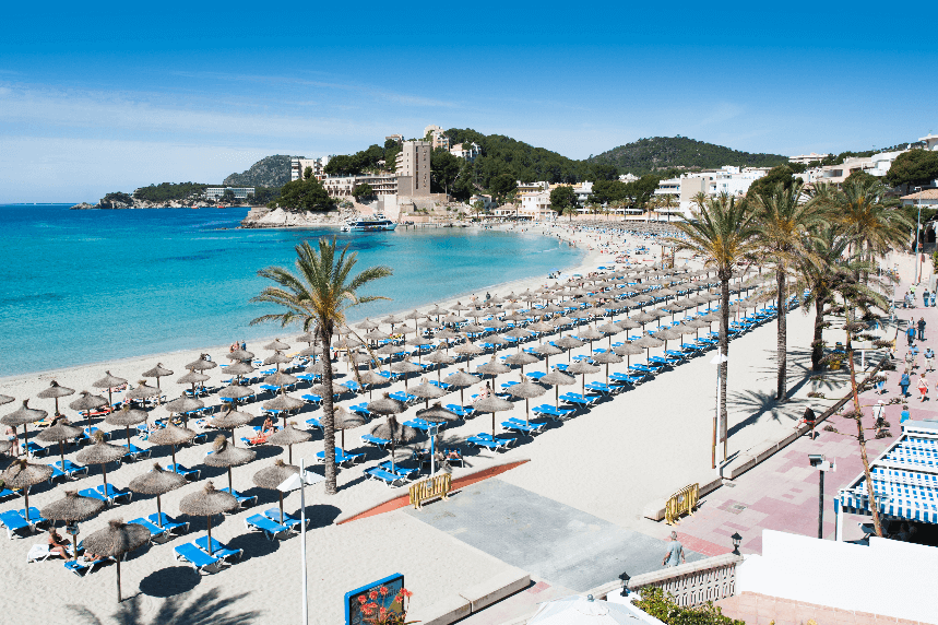 Palmira Beach (Peguera – Mallorca) , Playa de Palmira (Peguera - Mallorca)
