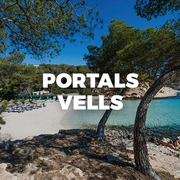 PORTALS VELLS I. Playa de arena y rocas en un entorno natural impresionante en Calvià: playas espectaculares en Mallorca