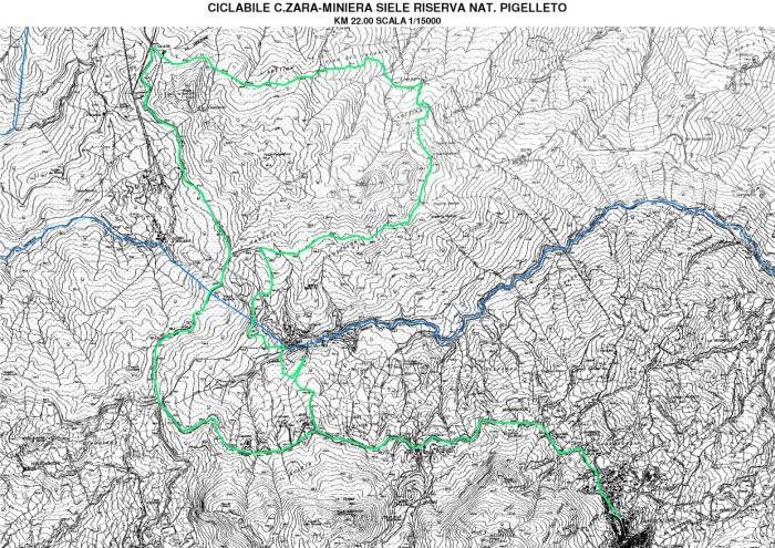 mappa-ciclabile-c.azzazara-miniera del Siele.riserva naturale del Pigelletto