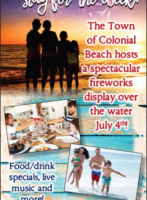 Things to Do in Colonial Beach Virginia Week of July 4th
