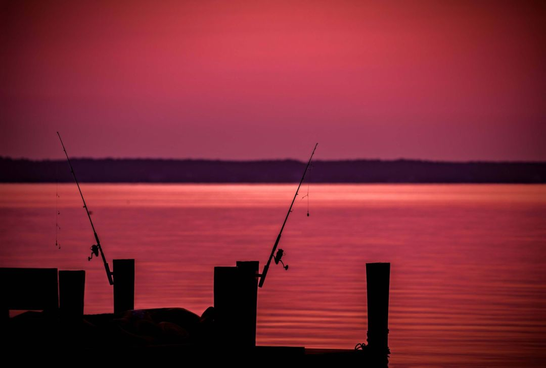 Fishing on the Potomac River at dawn