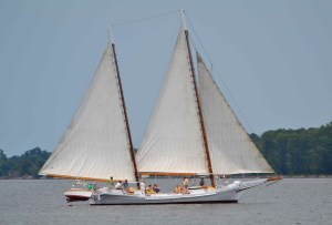 1889 bugeye Edna Lockwood docking in Colonial Beach during Potomac River Festival
