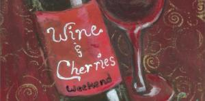 wine and cherries
