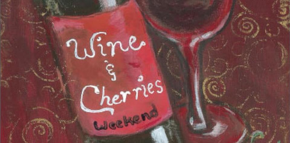 wine and cherries