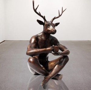 DeerManBronzeSculpture