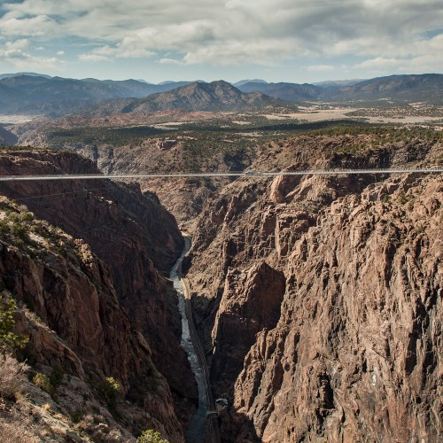Royal Gorge Bridge spanning the river
