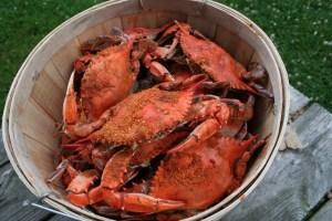 Steamed Crabs In Bushel Basket