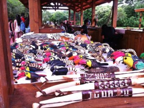 Guarani indigenous people are selling handcrafts at a meeting area, where restaurants and restrooms are located as well. Iguazu falls Brazil & Arentina 2014 © Carmen Cristina Carpio /Kjell Anders Pettersen