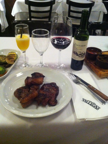 Puerto Villegas, outstanding service, mouth-watering meat, delicious Argentinian wine! Puerto Madero neighborhood, Buenos Aires.