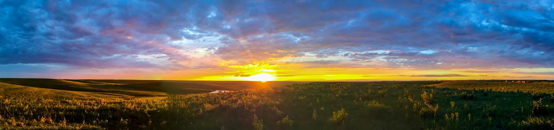 A sunset in the Kansas Flint Hills, west of Emporia