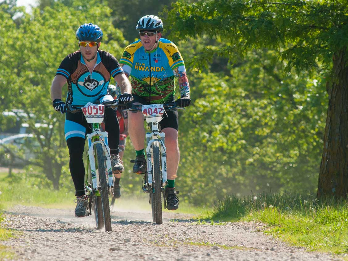 cycling at camp alexandar