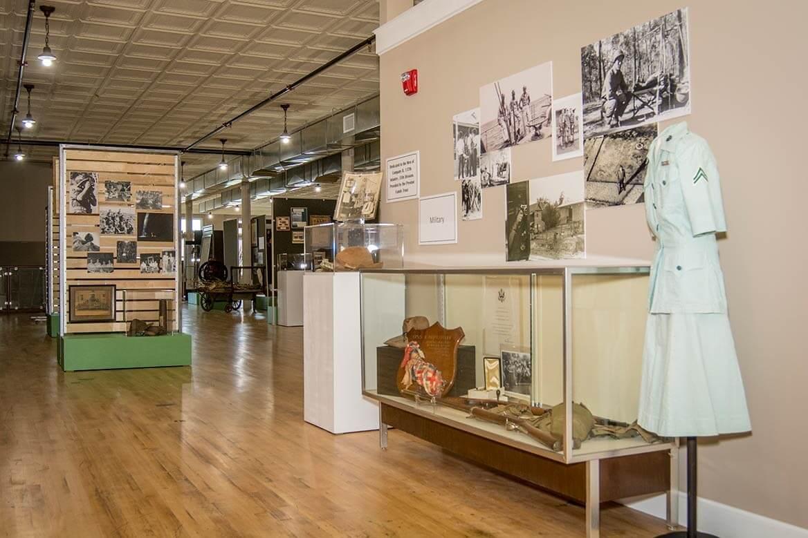 display at lyon county history museum