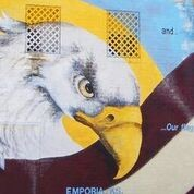 eagle mural on building in Emporia