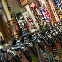 craft beer taps at mulready's pub