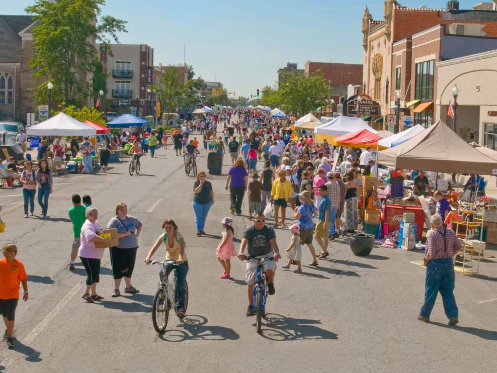 downtown emporia during the Great American Market event