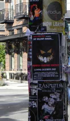 Cartaz de concurso anual de esculturas de abóboras no Halloween em Seattle