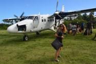 La piste d'atterrissage à Tavie