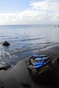 Snorkeling sur la plage à Voravor