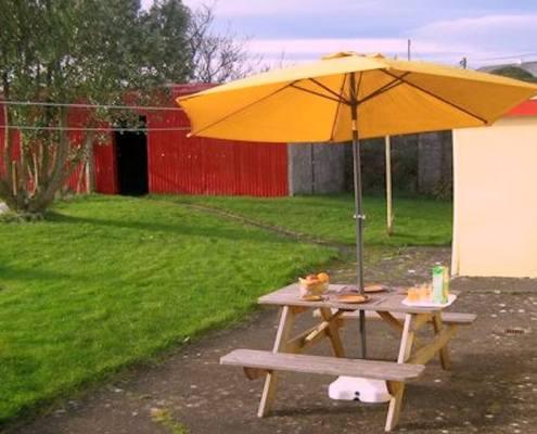 Patio Area and back garden of Cosy Nook