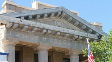 Doric columns support a beautiful pediment
