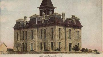 Third Pecos County Courthouse circa 1883