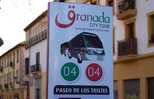 Granada Sightseeing Bus Stop