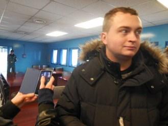 Kyle inside the JSA conference room