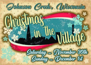 Christmas in the Village logo for Johnson Creek