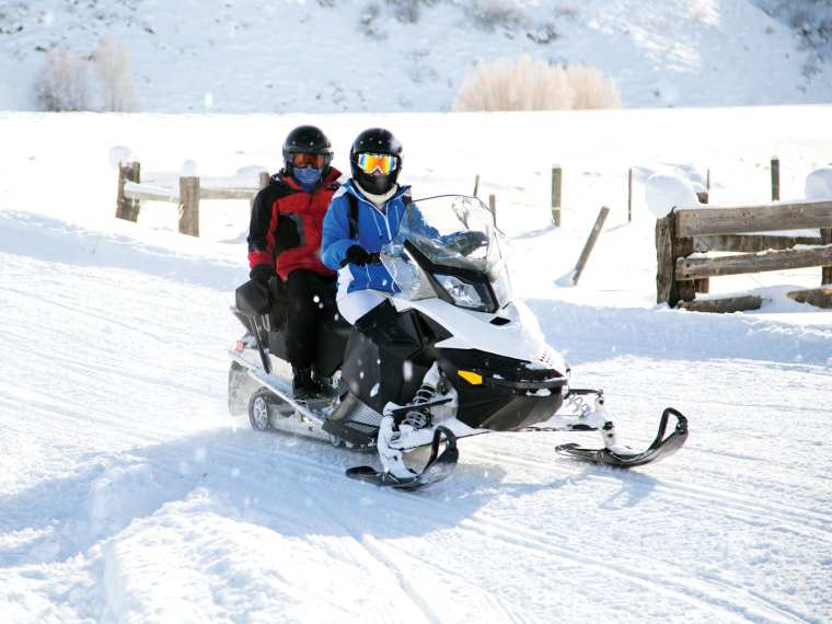 Spend a day sledding with a friend along the Interconnected Trail System.