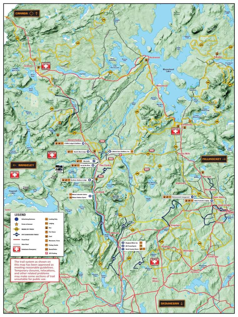 Somerset County ATV Trail Riding Map
