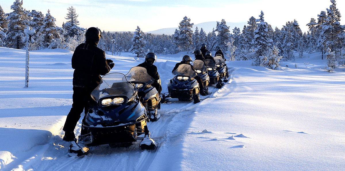 Snowmobiling guided experience in the Kennebec Valley