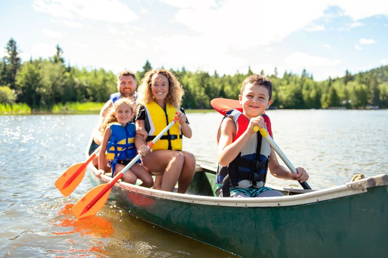 Classic Summer Fun Paddling with The Whole Family