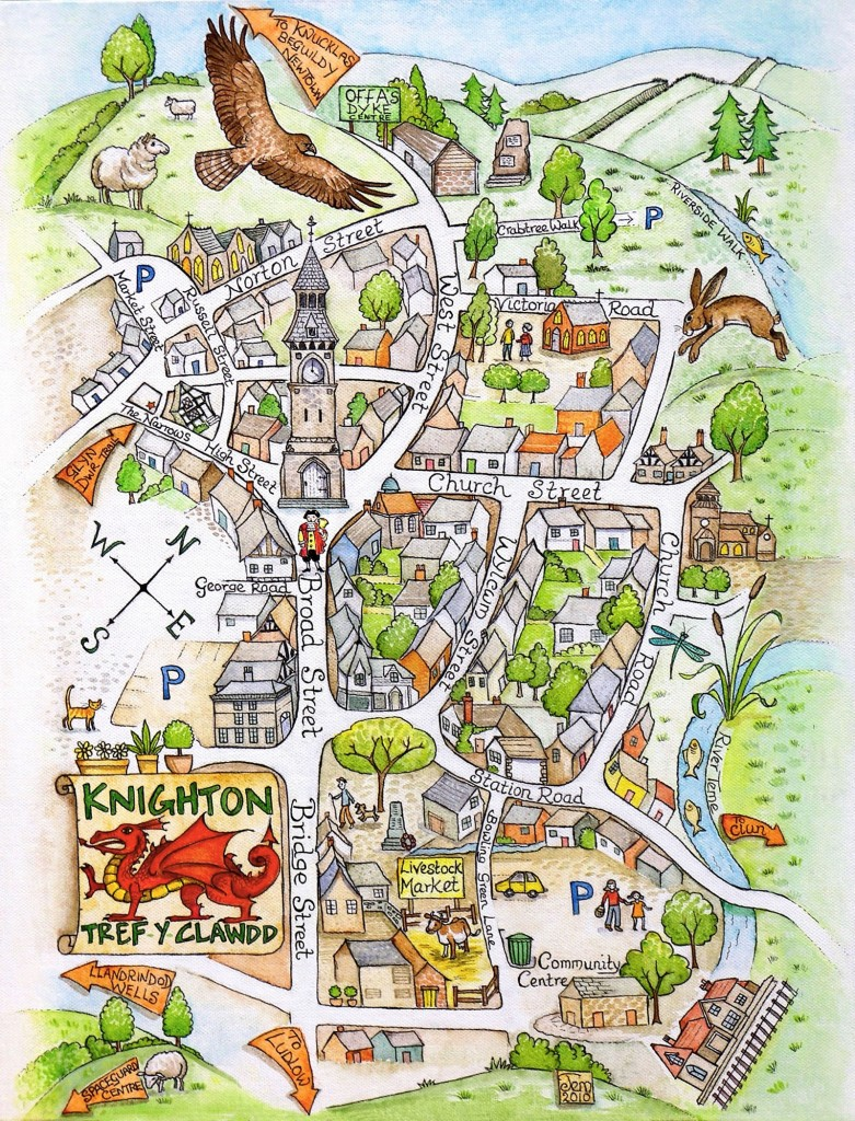 Knighton Map & Hare Cards jpg