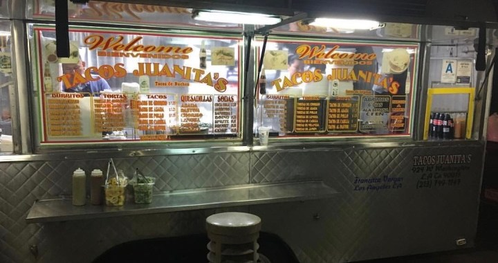 Taco Truck in Koreatown LA