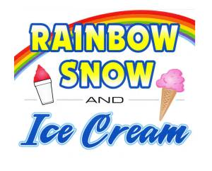 Rainbow Snow and IceCream