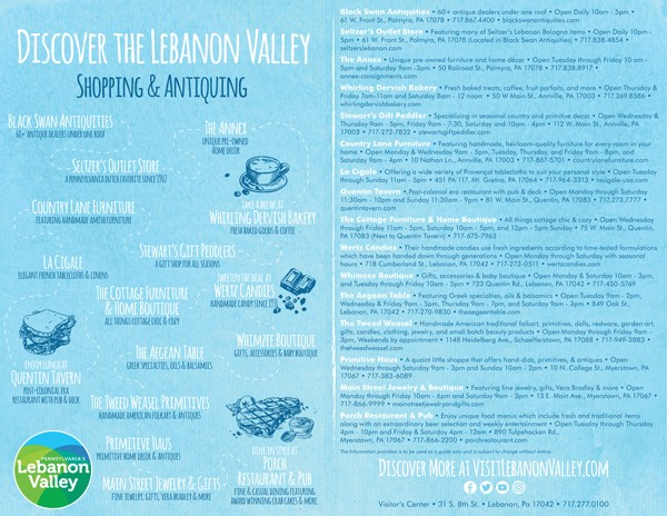 Shopping & Antiquing Itinerary | Visit Lebanon Valley