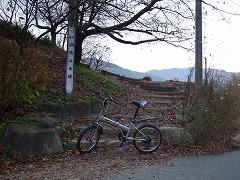 自転車で弘法山まで。