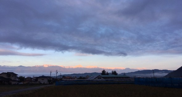 First Snow on the Japan Alps!