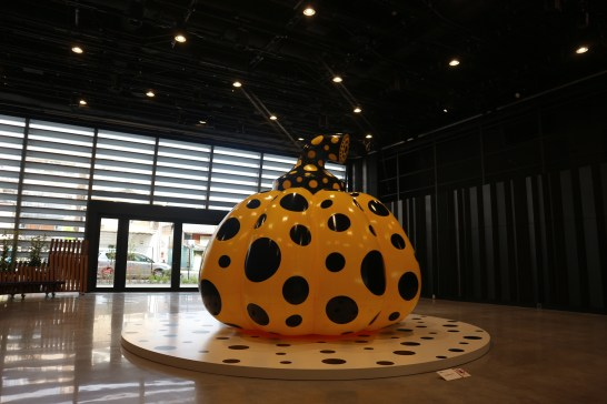 "Yayoi Kusama's ""Pumpkin"" which was on display during the opening"