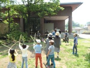 松本市立考古博物館『弓矢づくり講座』