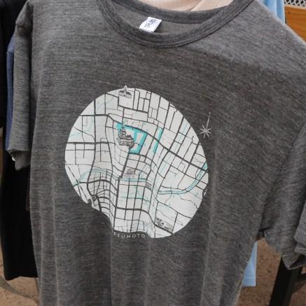 地図Tシャツ
