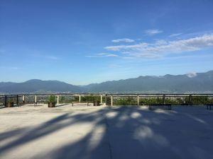 松本市アルプス公園に新たな眺望ポイント