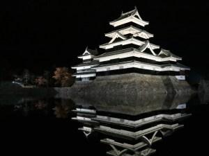 夜の国宝松本城と紅葉 2018/11/07