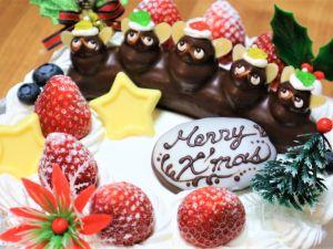 クリスマス?タヌキケーキを食べました!大人気の翁堂のタヌキケーキ