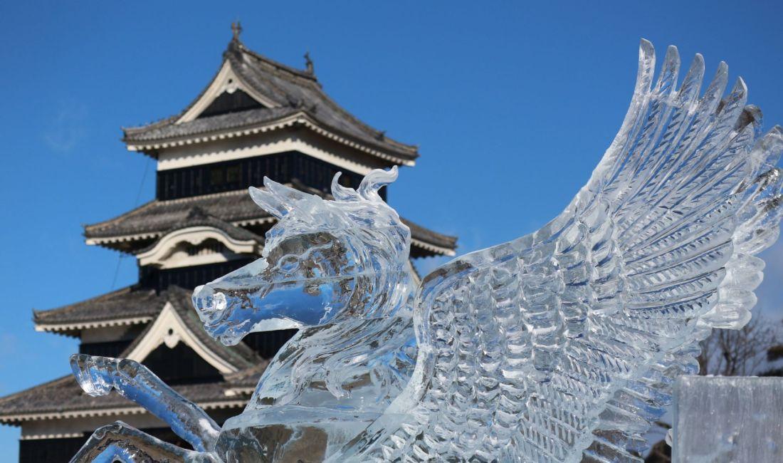 全国氷彫コンクール結果発表!国宝松本城氷彫フェスティバル最終日