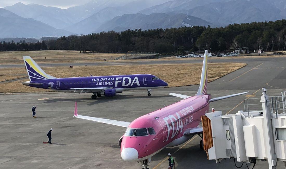 日本海拔最高的机场(松本空港)